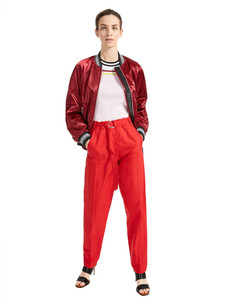 Sportmax Code Adagio Red Long Pants