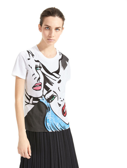 Sportmax Code Benares Optical White T-Shirt