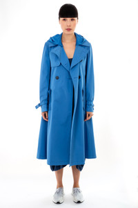 Sportmax Code Crema Light Blue Raincoat