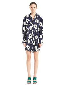 Sportmax Code Centro Navy Shirt Dress