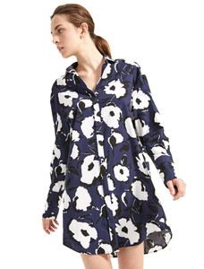 Sportmax Code Centro Navy Shirt Dress