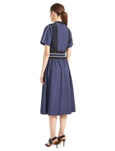 Sportmax Code Valle Navy Dress