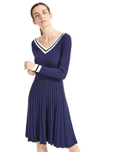 Sportmax Code Aeroso Ultramarine Knitted Dress