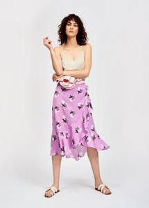 Essentiel Antwerp Sadie Mid-length African Violet Wrap Skirt