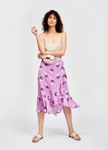 Essentiel Antwerp Sadie Mid-length African Violet Wrap Skirt