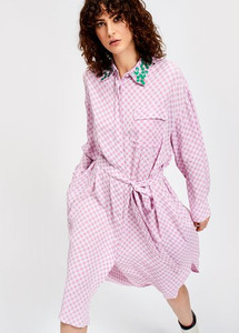 Essentiel Antwerp Saquisha Shirt African Violet Shirt Dress