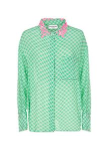 Essentiel Antwerp Shittaytay Green Tea Over sized Shirt