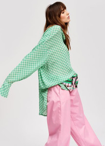 Essentiel Antwerp Shitaytay Green Tea Over-sized Shirt