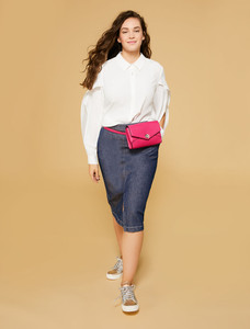 Persona Capri Navy Blue Skirt