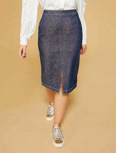 Persona Capri Navy Blue Skirt