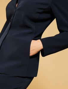 Persona Okay 1911139 Navy Blue Jersey Jacket