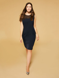 Persona Olmo Navy Blue Jersey Dress