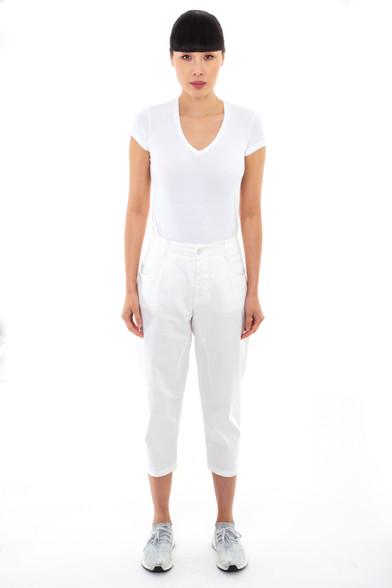 Transit Par Such White Cotton Trousers