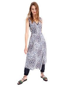 Sportmax Code ASTI Animal Print Navy Dress