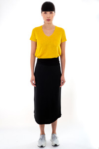 Majestic Filatures V Neck Yellow Top