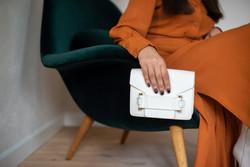 Naledi Copenhagen Jolie White Leather Bag