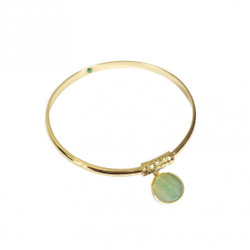 Aura Bijoux Bangle Green
