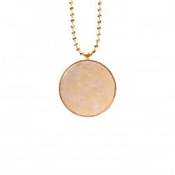 Aura Bijoux Short Pendant Necklace Pink