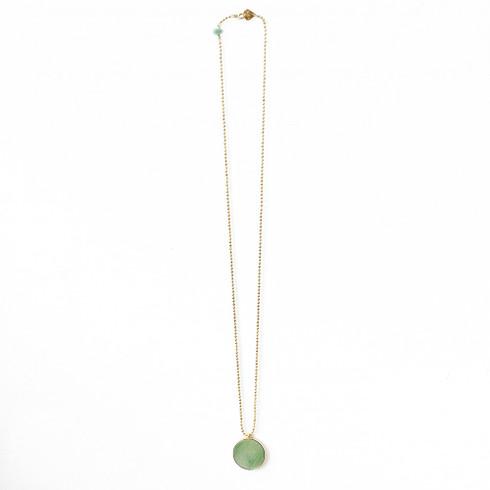 Aura Bijoux Short Pendant Necklace Green