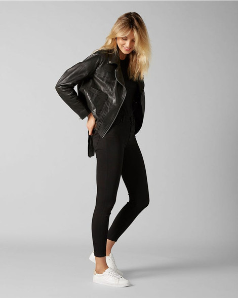 7 For All Mankind Skinny Crop Sateen Jeans