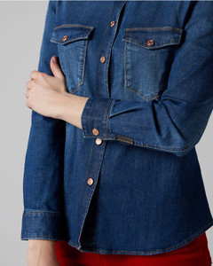 7 For All Mankind Denim Blue Shirt