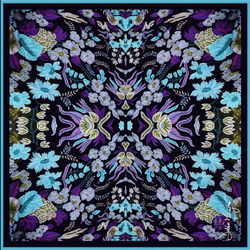 Debbie Millington Stitch in Time Blue Scarf
