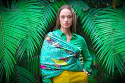 Debbie Millington Hennahands Green Scarf