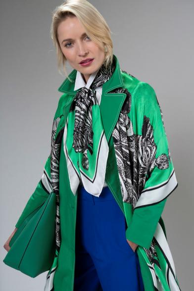 Debbie Millington Zebra Green Scarf