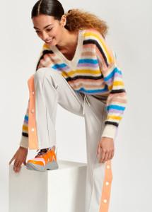 Essentiel Antwerp Toy Multicolored light knit V-neck sweater