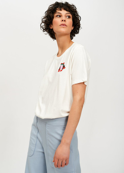 Essentiel Antwerp Off-white cotton T-shirt