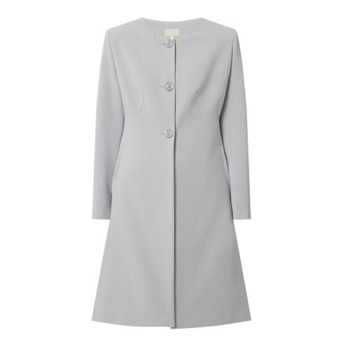 Fee G Grey Collarless Coat