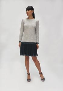 Fee G  Grey Dress with pleated hem