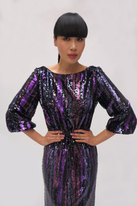 Fee G Sequins Purple Dress