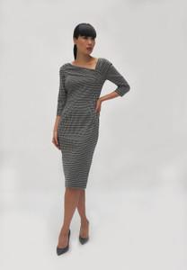 Fee G Black Wrap Shoulder Dress