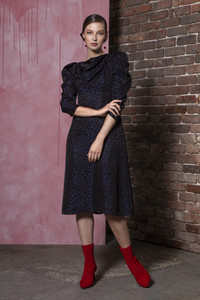 Caroline Kilkenny Coco Navy Dress