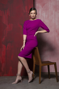 Caroline Kilkenny Delphine Dress Purple