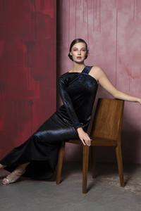 Caroline Kilkenny Molly Blue Velvet Dress