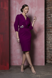 Caroline Kilkenny Nettie Purple Dress