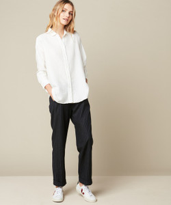 Hartford Charlot Woven Ivory Over-sized Shirt