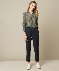 Hartford Paolo Woven Dark Blue Pants
