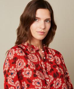 Hartford Cody Woven Floral Print Shirt