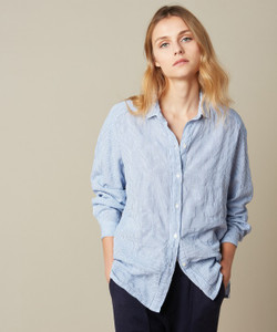 Hartford Clover Blue Stripe Shirt