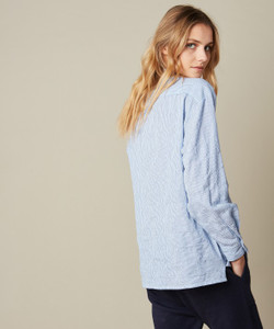 Hartford Clover Blue Stripe Shirt