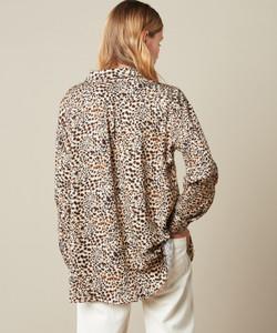 Hartford Charlot Woven Leopard Print Shirt
