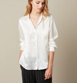 Hartford Corazon Woven Ivory Shirt
