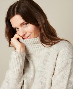 Hartford Mystic Knitted Light Beige Pullover