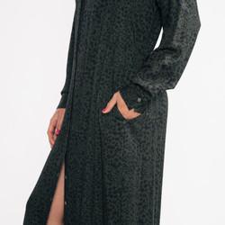 Hartford Rebecca Woven Leopard Print Dress
