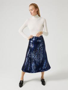 Sportmax Code Dattero Navy Skirt