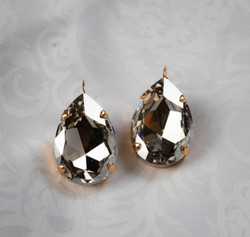 Pat Whyte Crystal Tear Earrings