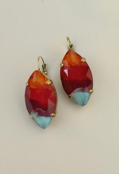 Pat Whyte Earrings Orange/Red